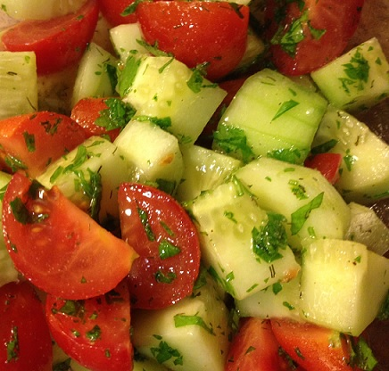 Cucumber Tomato Salad 2
