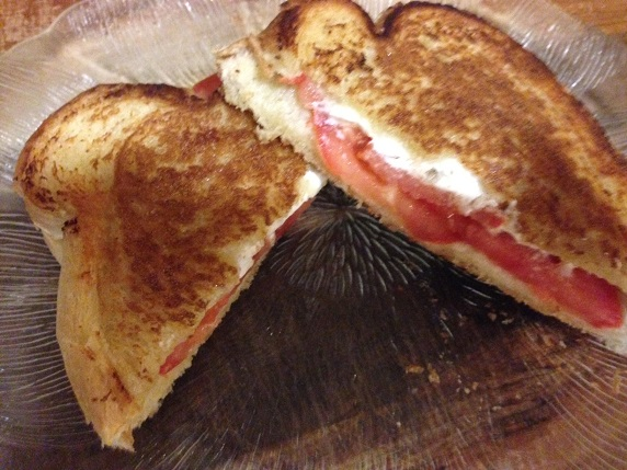 Tomato and Goat Cheese Grilled Cheese