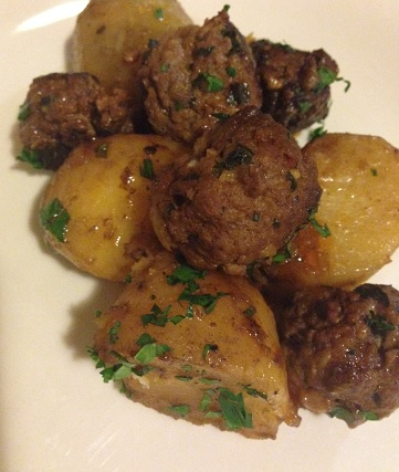 Meatballs, Sherry, and Potatoes | Kate's Cuisine