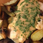 Salmon Potatoes Mushrooms