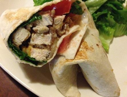 Chicken Thai Wraps