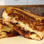 Grilled Cheese with Tomato Jam and Carmalized Onions