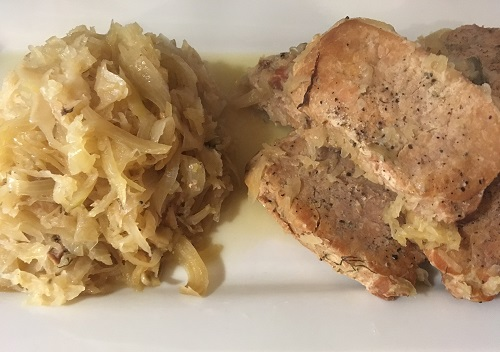 Pork Chops and Sauerkraut